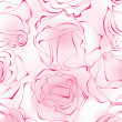 Pink roses seamless pattern — Stockvectorbeeld