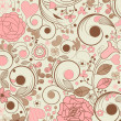Vintage floral background - Stock Vector