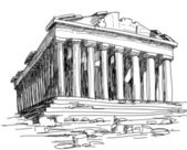 Greece Parthenon sketch — Stock Vector