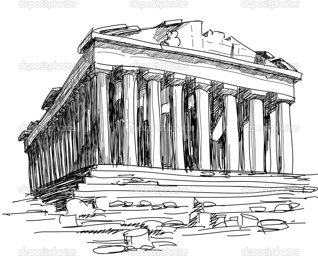greek architecture coloring pages - photo#31