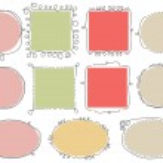doodle bonitos quadros — Vetorial Stock  #5770879