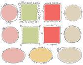 Cute doodle frames — Stock Vector