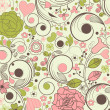 Beautiful floral pattern — Vettoriali Stock