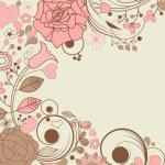Elegant summer floral frame — Stock Vector #5853829