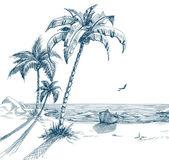 Sommar strand — Stockvektor