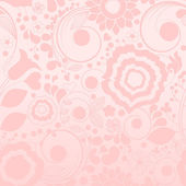 Pink floral seamless background — Stock Vector
