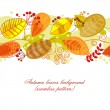 Autumn leaves background (seamless pattern) — Stock Vector