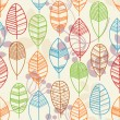 Autumn leaves seamless pattern — Stock Vector