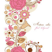 Floral background in autumn colors — Stock Vector