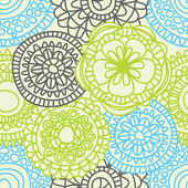 Stylish floral seamless pattern — Vetor de Stock