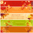 Stock Vector: Autumn banners set