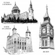 London architectural symbols — Stok Vektör