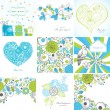 Set of greeting cards — Stock vektor #6020060