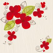 Vector floral fond — Vecteur