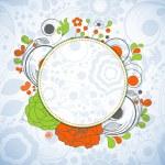 Floral circular banner — Stock Vector