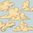 Stock Vector: Vintage clouds