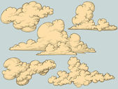 Vintage clouds — Vector de stock