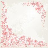 Quadro floral vintage — Vetorial Stock