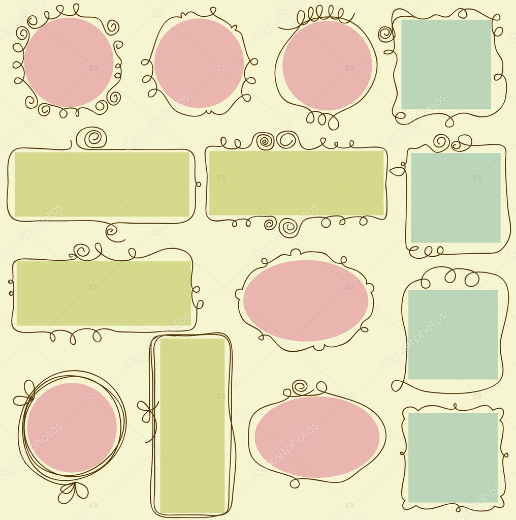 Cute frames  — Stock Vector #6254484