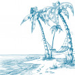 Tropical beach — Image vectorielle