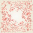 Hand drawn floral frame - Stock Vector