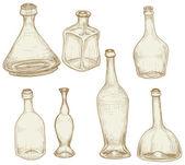 Bottles drawings — Stock Vector