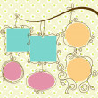 Cute frames hanging, retro style — Vector de stock #6406680
