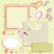 Set of elements for scrapbooking - Stock vektor