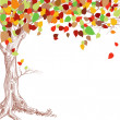 Autumn tree background — Imagen vectorial