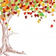 Stock Vector: Autumn tree background