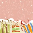 Gift boxes and confetti festive background - Vektorgrafik