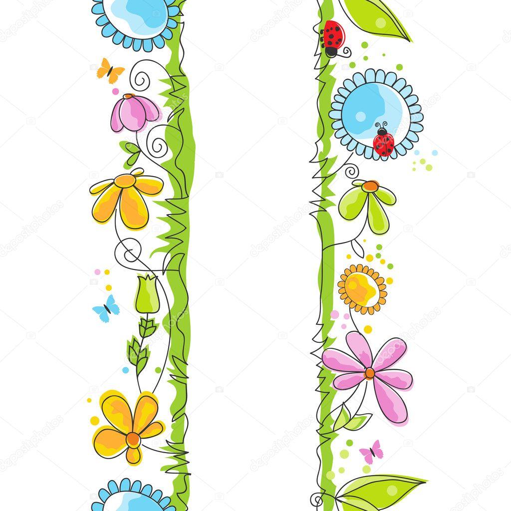 Cute Border Designs Cute Floral Borders Vector