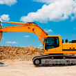 Yellow Excavator at Construction Site — Stock Photo #5823733