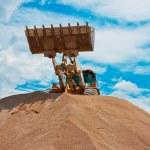 Yellow Excavator at Construction Site — Stock Photo