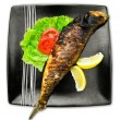 Fish in plate - Stock Photo