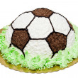 Cream football cake — Stock Photo #5824418