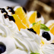 Fruit and cream cake — Stock Photo #5824433