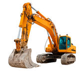 Yellow Excavator — Stock Photo