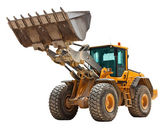 Yellow bulldozer — Stockfoto
