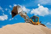 Yellow Excavator at Construction Site — Fotografia Stock