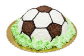 Cream football cake — Stockfoto