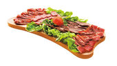 Cold cuts on plateau — Stockfoto
