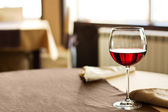 Red Wine on table — Stock Photo