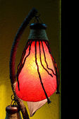 Bedroom night lamp with exotic design — Stock Photo