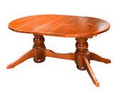 Wood table isolated on white background — Stock Photo