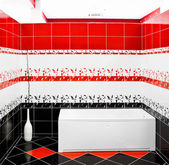 Modern tiled bathroom — 图库照片