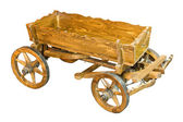 Village cart isolated on white background — Stock Photo