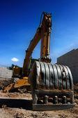 Bulldozer building dreams — Stock Photo