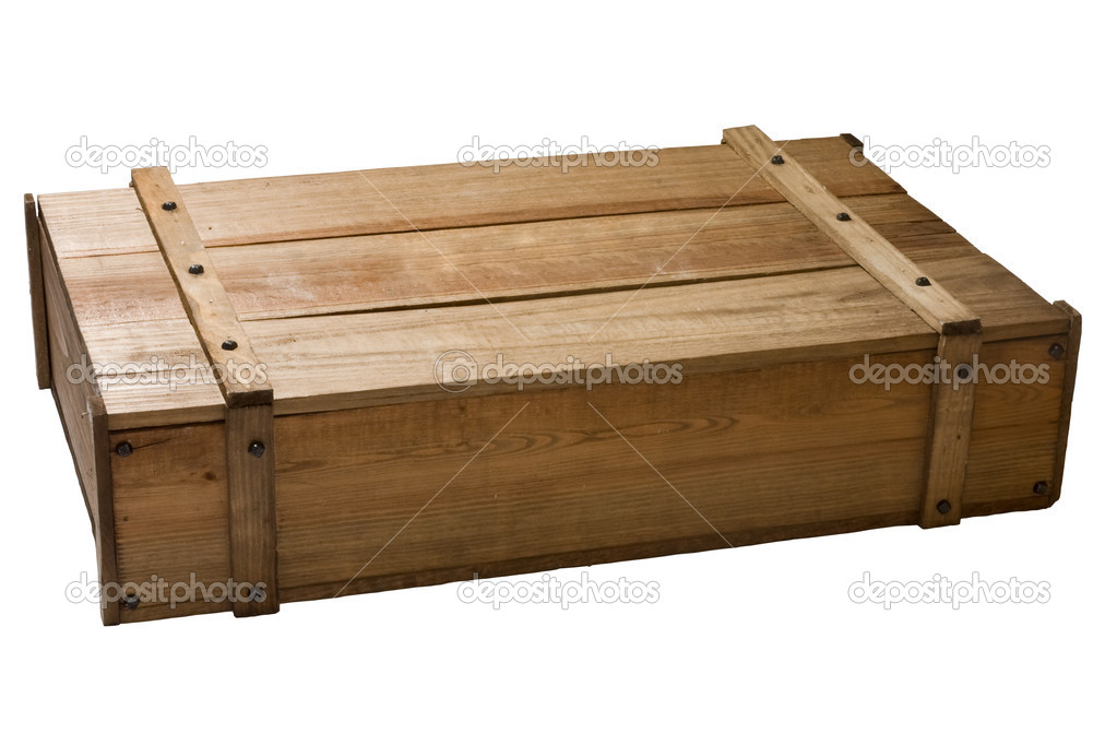 Vintage wooden box stock photo zothen 6589406 for Wooden chicken crate plans