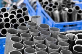Stainless steel pipes — Stock Photo